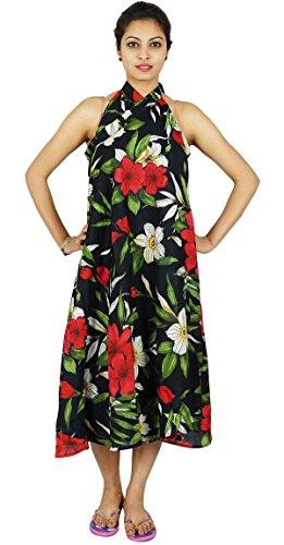 Phagun Reversible Dress Coton magique Wrap Jupe taille plus Sarong Noir