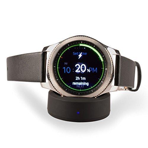 YOLIKE Cargador inalámbrico para reloj Samsung S3/S2, para Samsung Gear S3Classic, reloj S3Frontier (cable Incluido)
