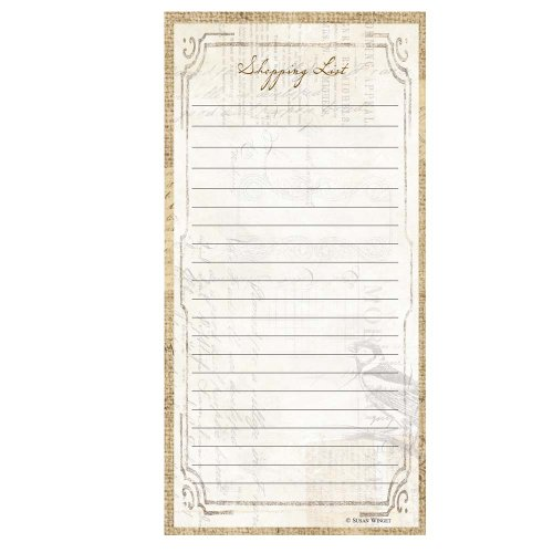 C.R. Gibson Rustic Magnetic Shopping List for Refrigerator, 75 sheets, 4.5'' W x 9.25'' H