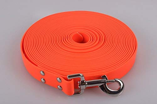 - Dog & Field Biothane Tracking Line for Deer Dogs, 10 m, Blaze Orange