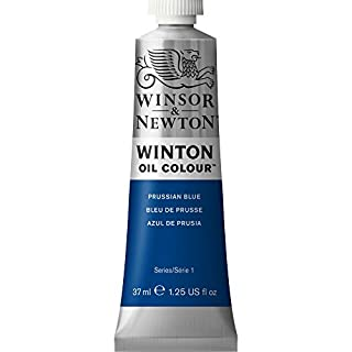 Winsor & Newton Winton Oil Colour Paint, 37ml tube, Prussian Blue (1414538)
