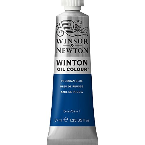 Winton Oil Paint 37ml/Tube-Prussian Blue (Blue Oil Painting)