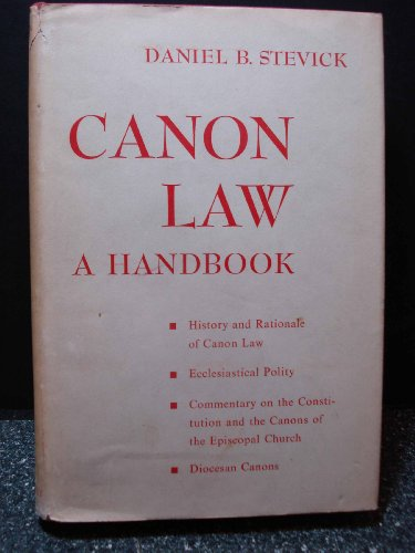 Canon law,: A handbook