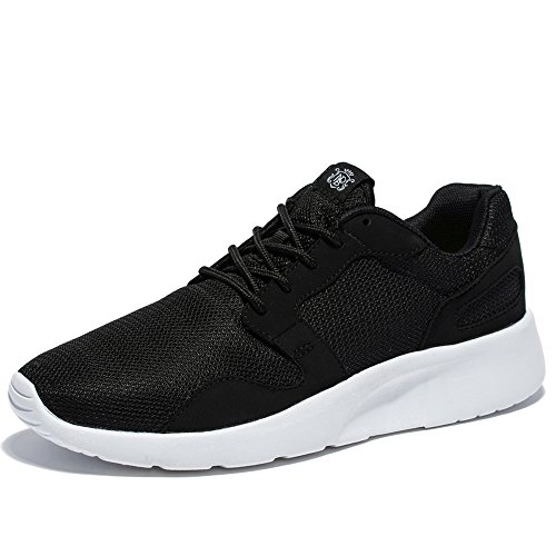 WOTTE Women's Lightweight Casual Running Shoes Fashion Breathable Outdoor Exercise (9 B(M) US, Black)