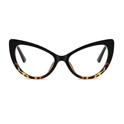 mujer Gafas grandes de con sol Gafas Cat con de de Gafas clásicas la de Marco Rivet de T lente para de borde la Print Animal con sol sol conducción de sol transparente Gafas sol retro de Eyes PC personalidad Gafas R8xY1Oa
