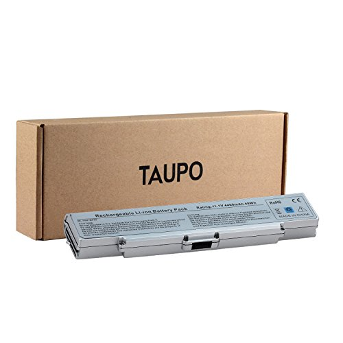 Taupo New Laptop Battery For Sony Vaio Pcg Vgn Ar Vgn Nr Vgn Sz Vgn Cr Series  Fits Bps9  Vgp Bpl9  Vgp Bps9  Vgp Bps9 B  Vgp Bps9 S  Vgp Bps9a  Vgp Bps9a B  Silver   12 Months Warranty