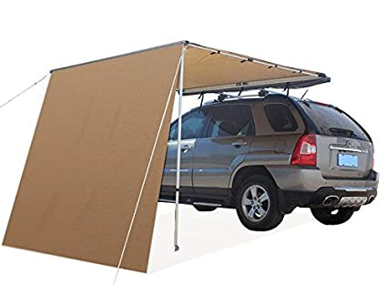 Image Unavailable  sc 1 st  Amazon.com & Offroaidng Gear 6.5u0027L x 6.5u0027W Roof Rack 4x4 Awning w/Free 6.5u0027 Front Extension for Car/SUV/Truck - Dark Beige