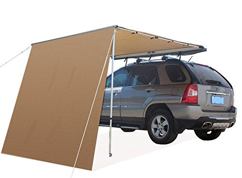 Offroaidng Gear 6.5'L x 8'W Roof Rack 4x4 Awning w/Free 6.5' Front Extension, for Car/SUV/Truck - Dark Beige ()
