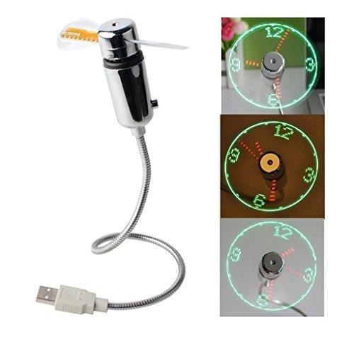 NYKKOLA USB LED Fan Clock by NYKKOLA