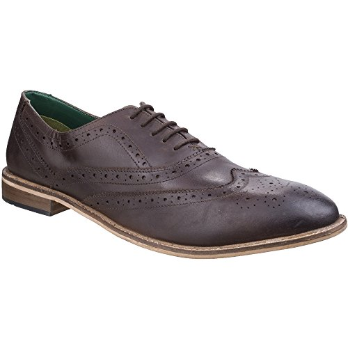 King Mens Oxford Smart Lambretta Shoes Brown Up Lace Leather Scotts Brogue 0t7nd8
