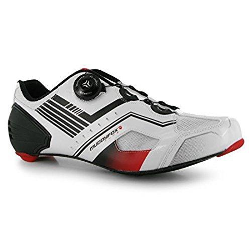 de Blanco para Rojo ciclismo carbono Paneles para Ciclos Negro de de Muddyfox RBS hombre entrenadores Zapatillas malla 6Xw7qA