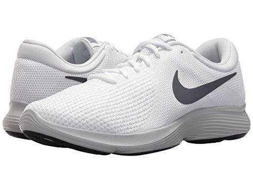 brand new fcd23 0ebf7 Galleon - NIKE Men s Revolution 4 White Light Carbon-Pure Platinum Running  Shoes (12 D US)