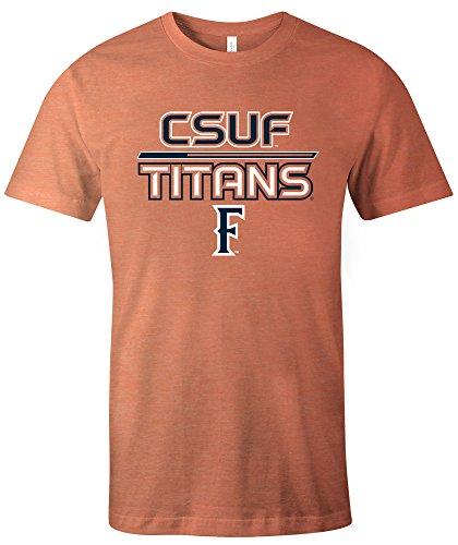 NCAA Cal State Fullerton Titans Adult Unisex NCAA Reverse Short sleeve Triblend T-Shirt,Medium,Orange