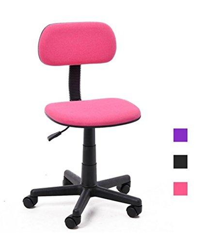 GreenForest Verstellbar Kinder Bürostuhl für Schreibtisch Computertisch-Rosa