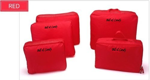 V-Share Bag in bag 5 pieces set travel packing cube in Red Color: Red, Model: by Tools & More