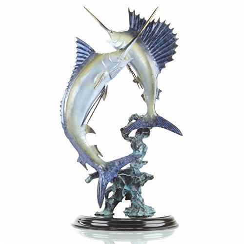SPI Home Chance Encounter Marlin & Sailfish Sculpture ()
