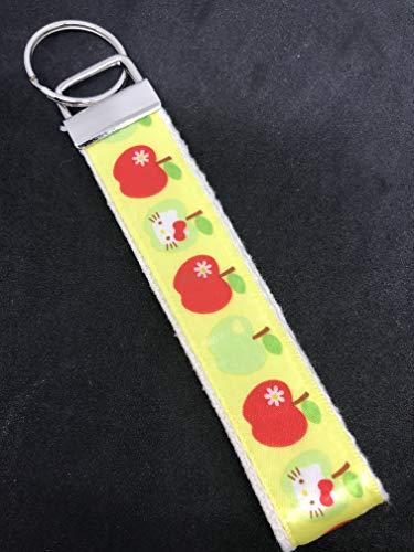Amazon.com: Hello Kitty – manzana/amarillo – llavero de tela ...