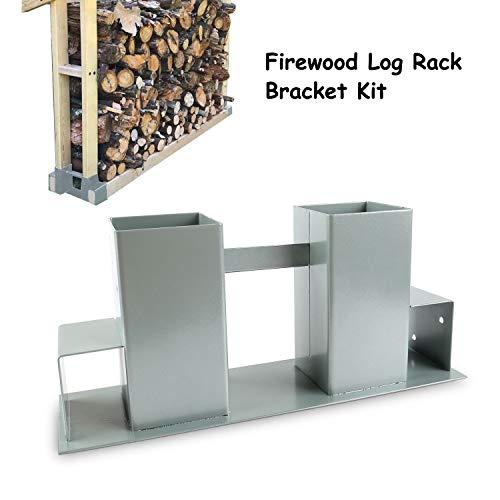 zimo Firewood Log Rack Bracket Fireplace Wood Storage Holder Heavy Duty Log Holder Firewood Stacker