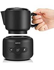 AEVO Automatic Milk Frother Machine, Electric Milk Warmer & Foam Maker [4 Modes] [Detachable Dishwasher-Safe Pitcher] [Independent Heating & Frothing] for Lattes, Cappuccinos, and Hot Chocolate