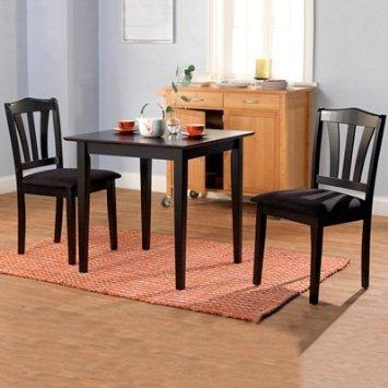 Beautiful Metropolitan 3 Piece Dining Set, Multiple Finishes