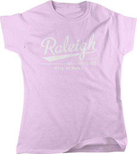 Raleigh  North Carolina  City Of Oaks Womens T Shirt  Nofo Clothing Co  S Pink