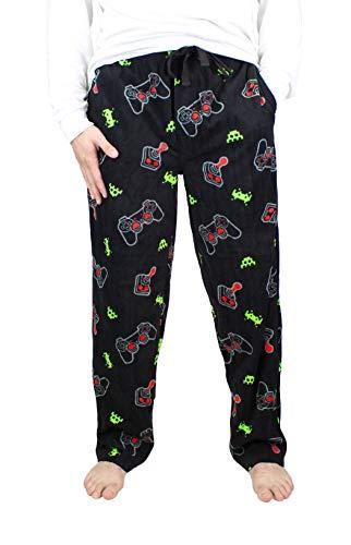 Varsity Men's Printed Microfleece Pajama Pant (Large, Video Game)