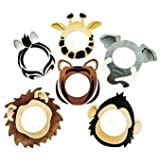 Fun Express Dozen Cardboard Printed Safari Animal Face Masks