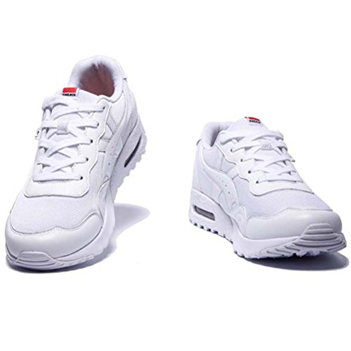 Yidiar Mujeres Athletic Air Cushion Entrenamiento Trail Running Zapatos Outdoor Sneakers Blanco