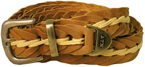 Kakadu Traders Australia Hand Braided Leather Belt in Tobacco