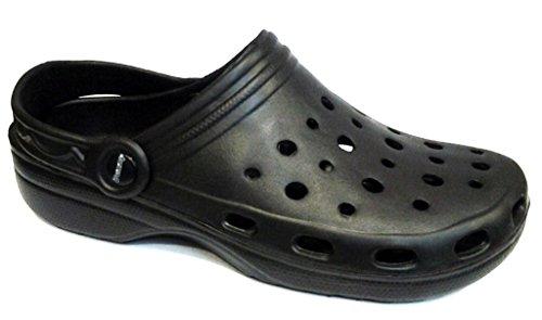 DEMA pantofole ciabatte da uomo in GOMMA mod. CROCS nero