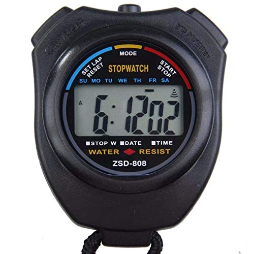 (Next-Station Digital Professional Sports Stopwatch Timer Water Resistant,Large Display with Date Time and Alarm Function,Ideal for Sports Coaches Fitness Coaches and Referees)