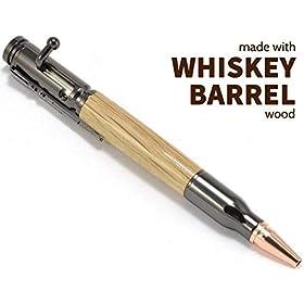 Jack Daniels Whiskey Barrel Wood Bolt Action Ballpoint Pen