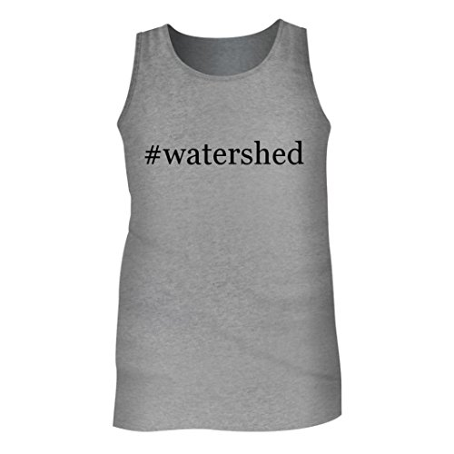 Tracy Gifts #Watershed - Men's Hashtag Adult Tank Top, Heather, Medium (Shower Curtains Watershed)