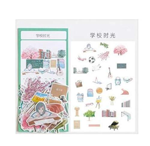 Cute Sticker - Time Flies Young Series Decorative Stationery Stickers Scrapbooking DIY Diary Album Stick Lable (01)