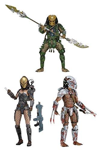 NECA Predator Series 18: Hornhead, Broken Tusk and Machiko Predator Action Figure Set of - Set Figure Predator