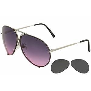 Porsche Design Sunglasses, Silver, 66mm