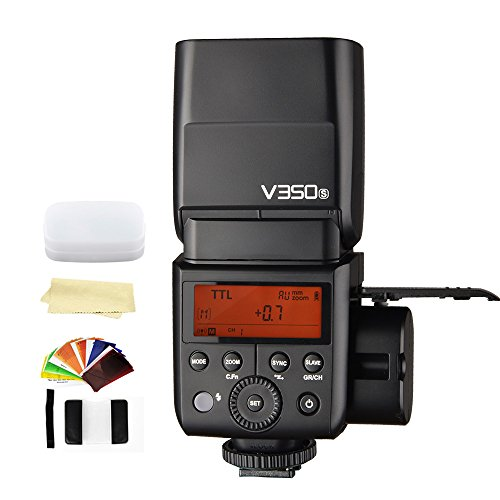 Godox V350S TTL 2.4G GN36 HSS 1/8000s Camera Flash Speedlite light compatible for Sony Cameras,with Rechargeable 7.2V/2000mAh Lithium Battery