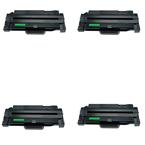 4 Pack Alternative to For Samsung ML-2525, ML-2525W, SCX-4600, SCX-4623F, SF-650, SF-650P Re-manufactured High Yield Toner Cartridge,MLT-D105L(2,500 Pages)