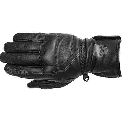 Stripe Gauntlet - Black Brand Men's Black Pinstripe Gauntlet Gloves, XL