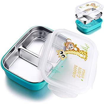 Stainless Steel Lunch Box for kids adults,Food Storage Container,Bento Boxes,Meal Prep,Leak-Proof,BPA free (medium blue)