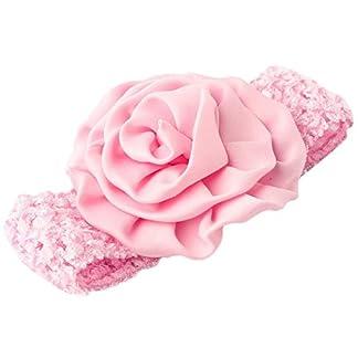 PIKABOO Rose Crochet Baby Headband Baby Pink Newborn Girls Hair Accessories 41kImxQHEpL