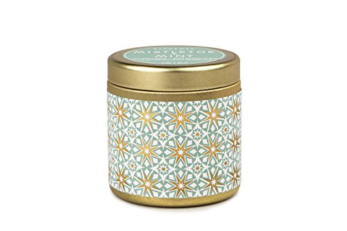 Paddywax Kaleidoscope Collection Scented Travel Tin Candle, 3-Ounce, Mistletoe & Mint ()