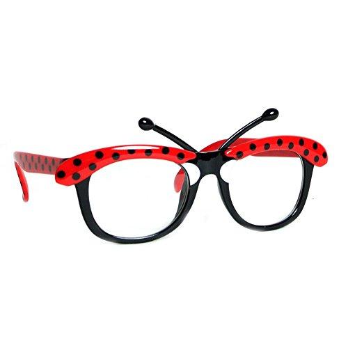 [Ladybug Nerd Glasses] (Ladybug Costumes Accessories)