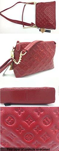 Handle Purple Zipper Womens Pocket Small Leather Shoulder KISS Soft Handbags Chain Bags FASHION Bag Red VM w01qCRv
