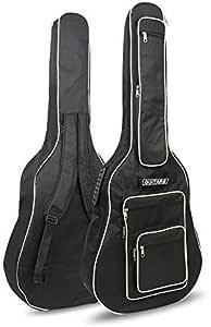 Origlam Bolsa para guitarra acústica de 40/41 pulgadas, con 6 bolsillos, funda impermeable para guitarra, mochila suave para guitarra, 8 mm de algodón acolchado: Amazon.es: Instrumentos musicales