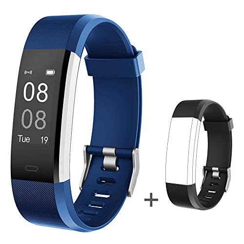 Willful Fitness Tracker with Heart Rate Monitor, Fitness Watch Pedometer Activity Tracker IP67 Waterproof with Calorie Step Counter 14 Sports Mode Sleep Tracker for Kids Women Men (with Extra Band)