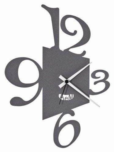 PROSPETTIVA (PERSPECTIVE) WALL CLOCK ITALIAN DESIGN - BLACK: Amazon ...