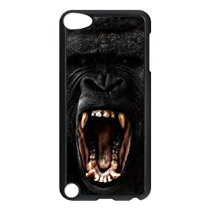 Customized Durable Case for Ipod Touch 5, Black Gorilla Phone Case - HL-704346