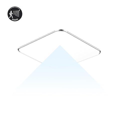 SAILUN 12W Ultra Thin LED Sensor Blanco Frío Lámpara de techo moderna para sala de estar
