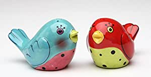 Cosmos Gifts 61544 Flights Of Fancy: Red And Blue Love Birds Salt and Pepper By Babs